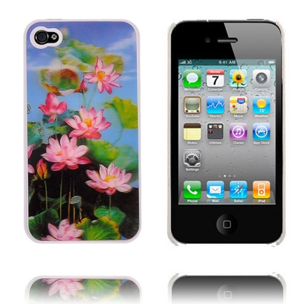 Image of   3D Hologram (Pink Blomster) iPhone 4 Cover