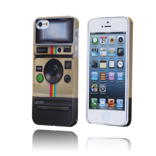 Retro Radio (Brun) iPhone 5 / 5S Cover