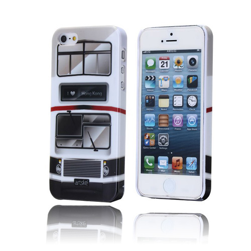 Retro Bus (Hvid) iPhone 5 / 5S Cover