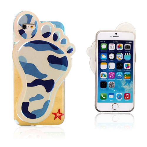 3D Fod (Blå Camouflage) iPhone 6 Cover