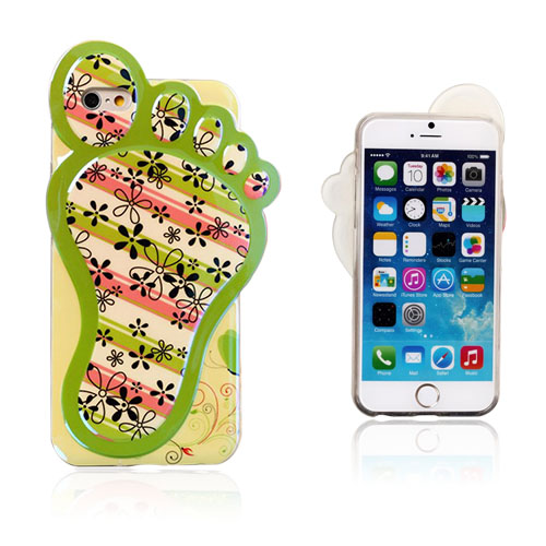 3D Fod (Blomster og Striber) iPhone 6 Cover