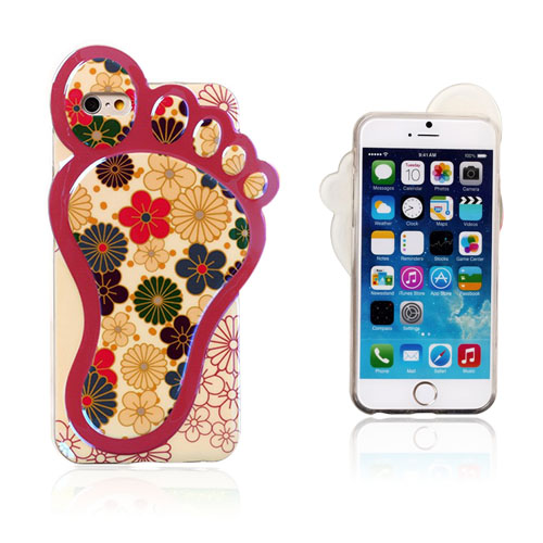 3D Fod (Tegnede Blomster) iPhone 6 Cover