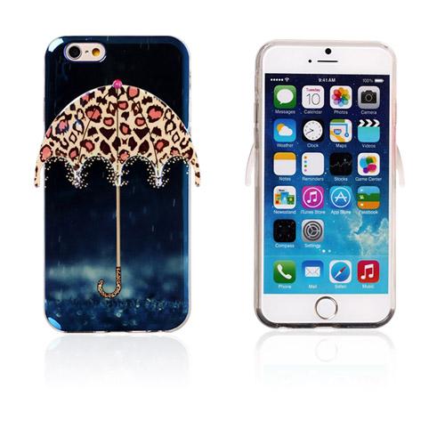Image of   3D Paraply (Regn og Leopard) iPhone 6 Cover