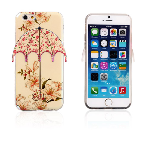 Image of   3D Paraply (Små Blomster) iPhone 6 Cover
