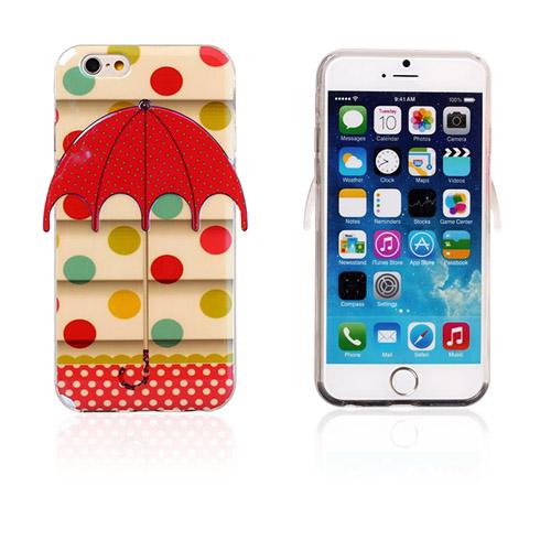 Image of   3D Paraply (Farverige Polkaprikker) iPhone 6 Cover