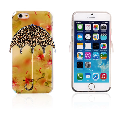 Image of   3D Paraply (Leopard Mønster) iPhone 6 Cover