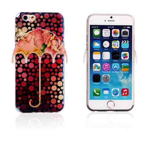 Image of   3D Paraply (Prikker og Peony) iPhone 6 Cover