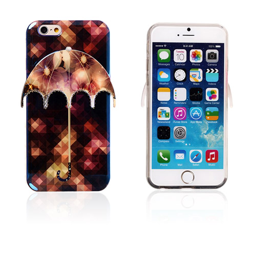 Image of   3D Paraply (Smukke Blomster) iPhone 6 Cover