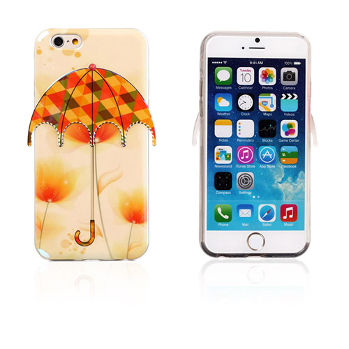 Image of   3D Paraply (Blomster og Trekanter) iPhone 6 Cover