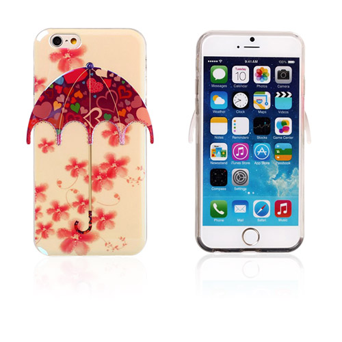Image of   3D Paraply (Blomster og Hjerter) iPhone 6 Cover