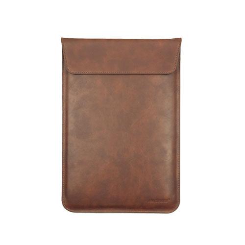 Image of   J.M.Show lædertaske til Macbook Pro 13.3 Retina tommer - Brun