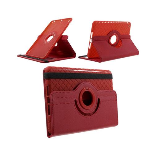 Jessen (Rød) iPad Mini 2 / Mini 3 Læder Roterende Etui