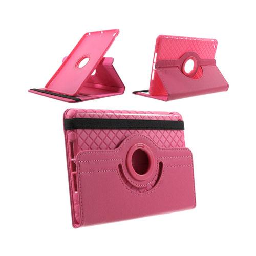 Jessen (Hot Pink) iPad Mini 2 / Mini 3 Læder Roterende Etui