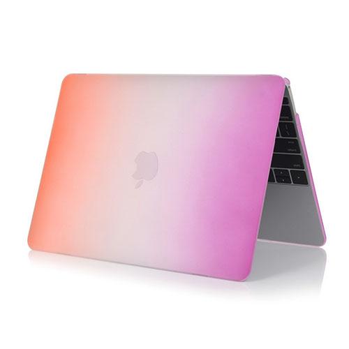 Image of   Rainbow Macbook 12-Tommer Retina (2015) Etui - Orange / Lilla