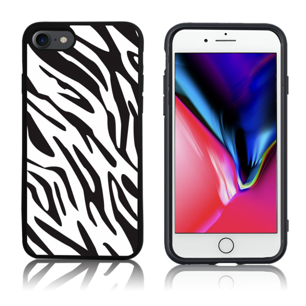 iPhone 7 / 8 Cover med 3D motiv - Zebra print