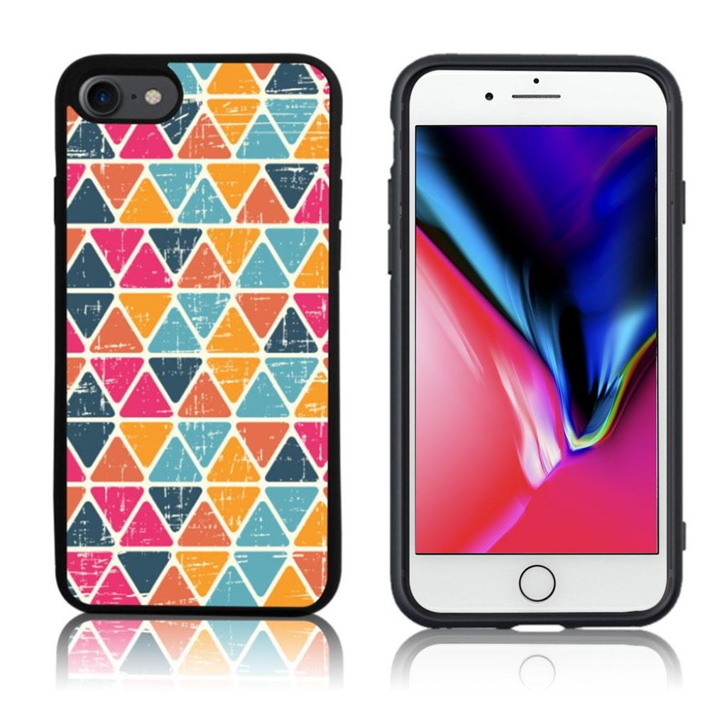 iPhone 7 / 8 Cover med 3D motiv - Farvefuld trekanter