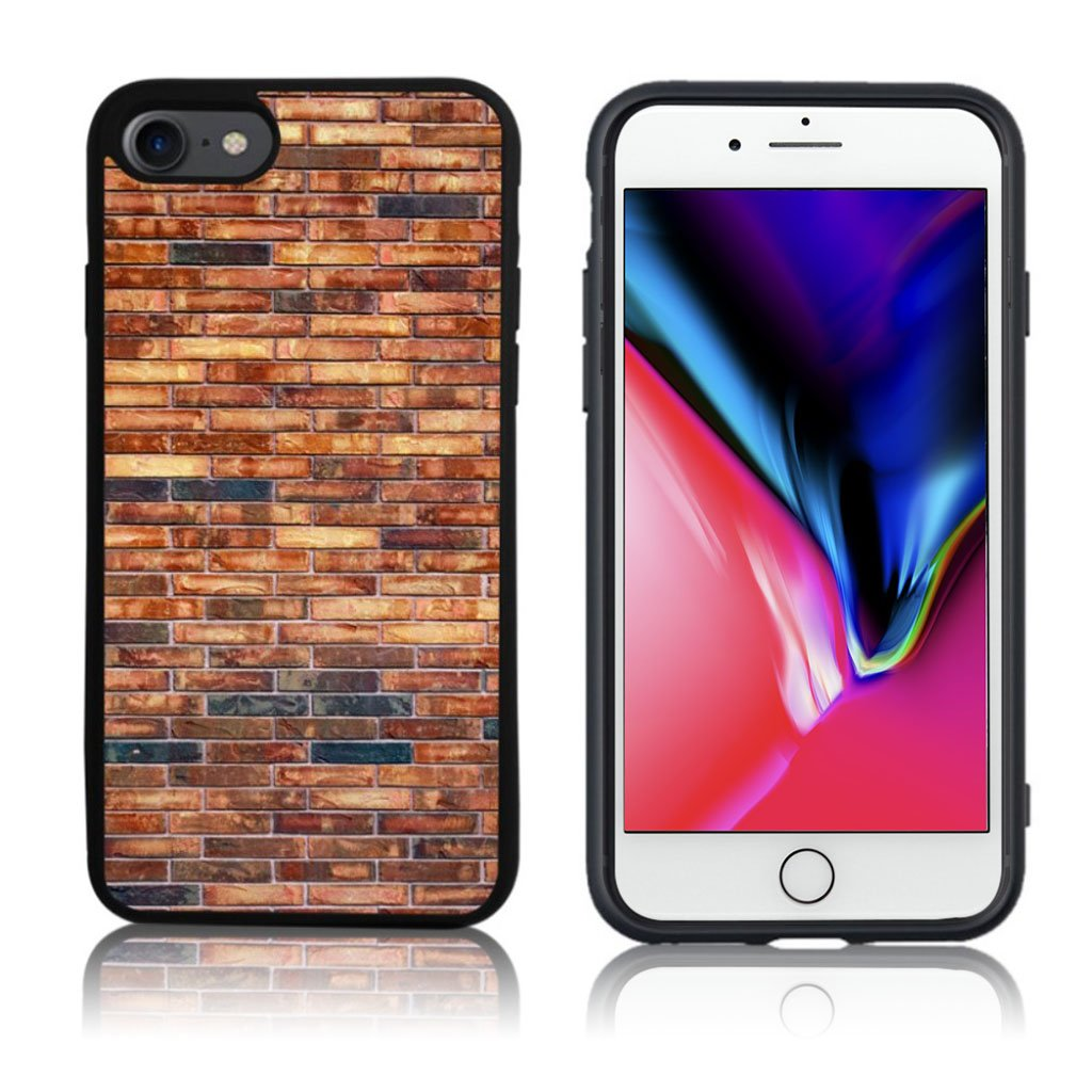 iPhone 7 / 8 Cover med 3D motiv - Brun mur