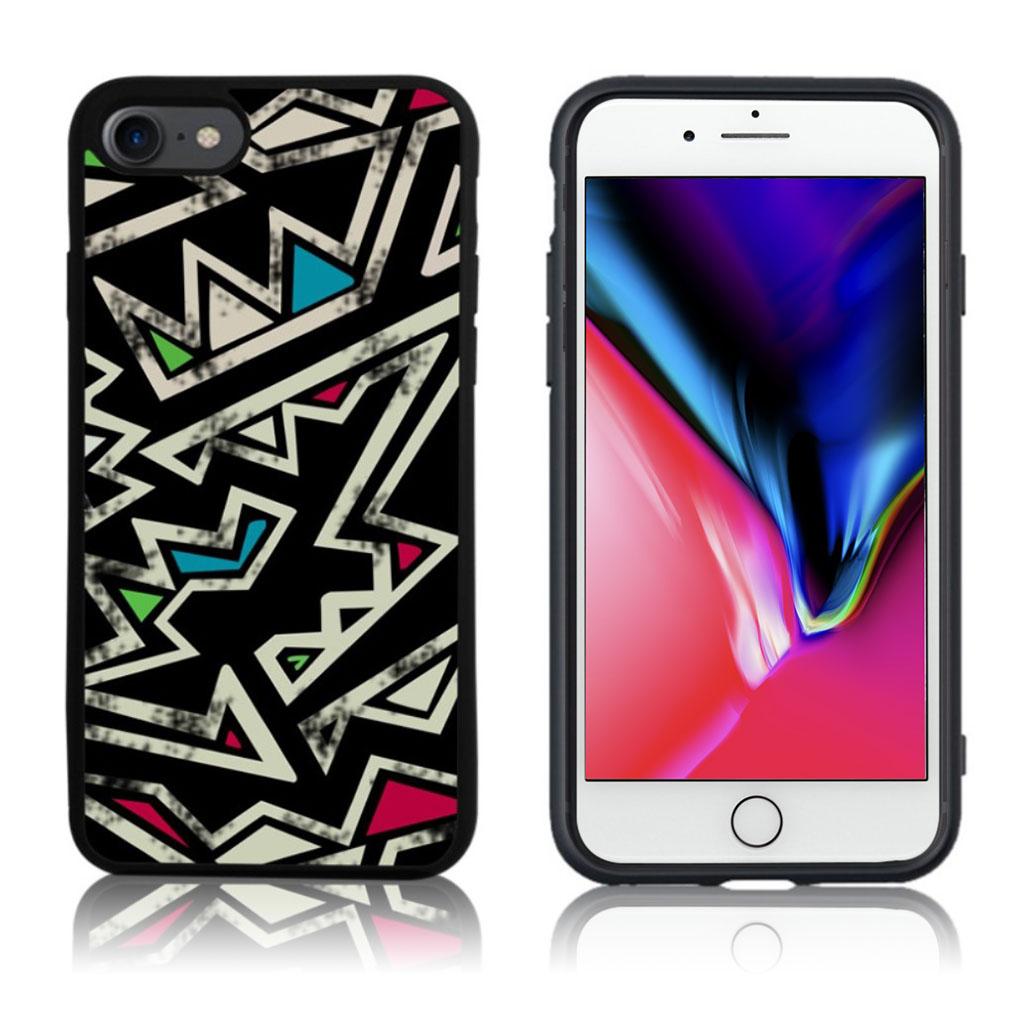 iPhone 7 / 8 Cover med 3D motiv - Irregulær mønster