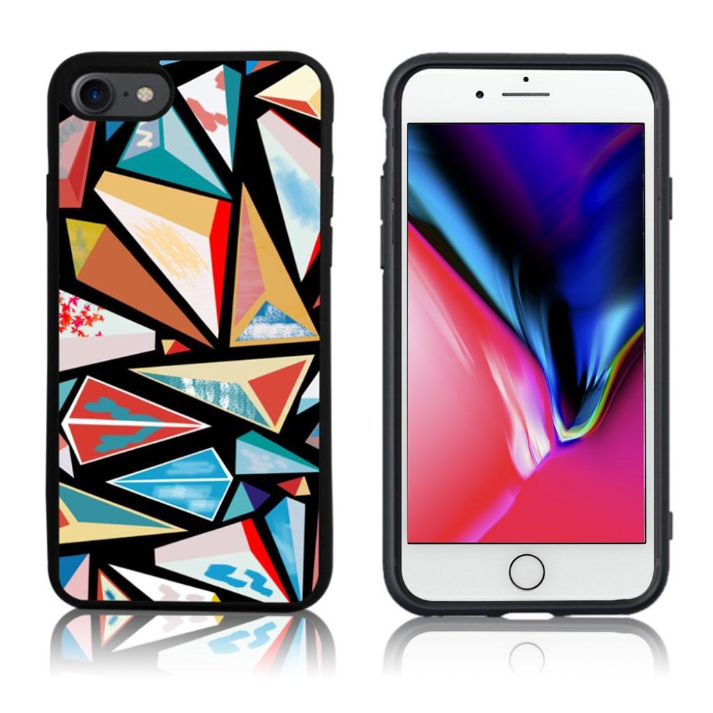 iPhone 7 / 8 Cover med 3D motiv - Irregulær trekanter