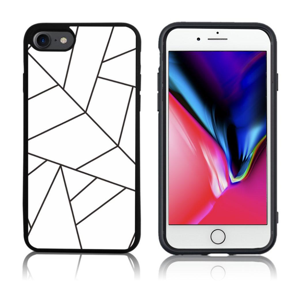 iPhone 7 / 8 Cover med 3D motiv - Hvid spindelvæv