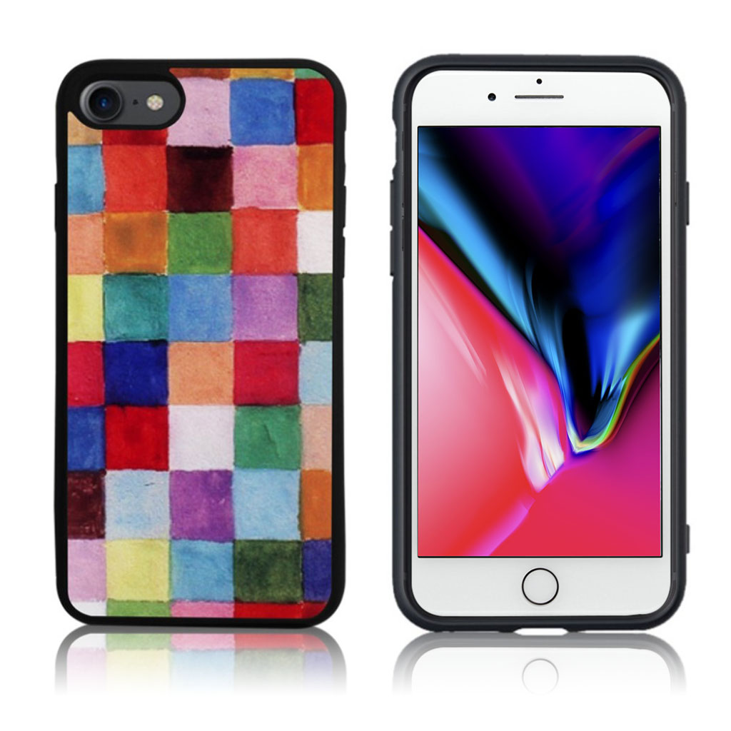 iPhone 7 / 8 Cover med 3D motiv - Farvegitter