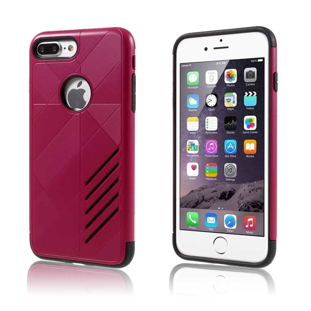 Image of   Absalon hybridcover til iPhone 7 Plus / 8 Plus - Hot Pink
