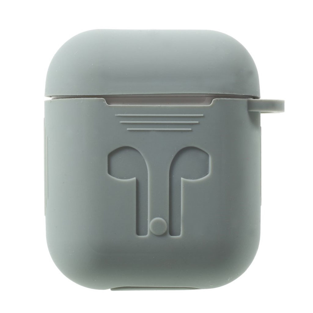 Image of   Airpods drop-proof soft silicone case - Grey