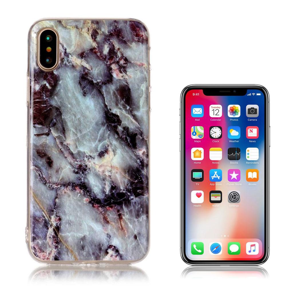 iPhone X cover med holdbare farver - Sort og blå
