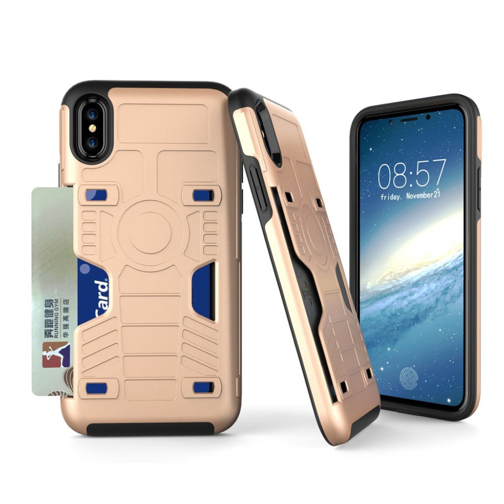 iPhone X Robut hybridcover - Guld farvet