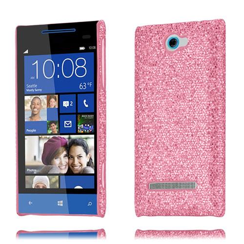 Glitter (Pink) HTC 8S Cover
