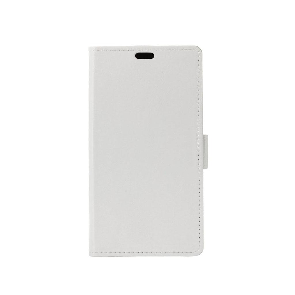 HTC 10 Evo læder-etui m. crazy horse overflade - Hvid