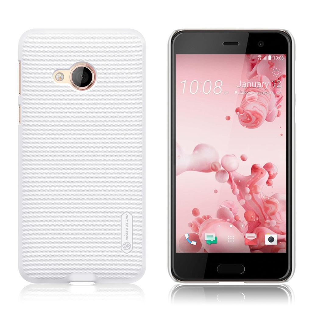 HTC U Play Beskyttende plastikcover - Hvid