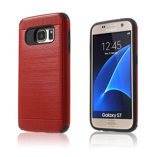 Image of   Absalon hybrid cover til Samsung Galaxy S7 - Rød