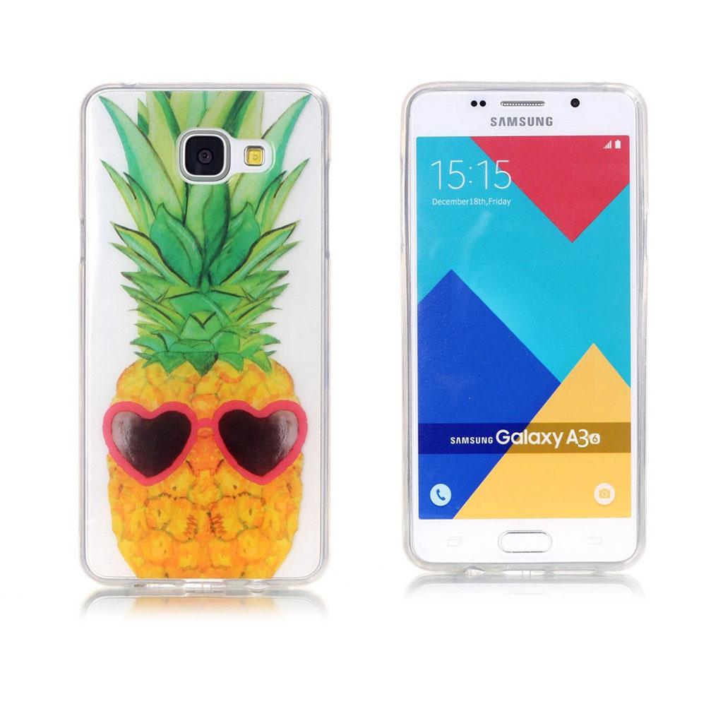 Eckersberg Samsung Galaxy A3 (2016) Cover - Ananas og hjerteformet solbriller