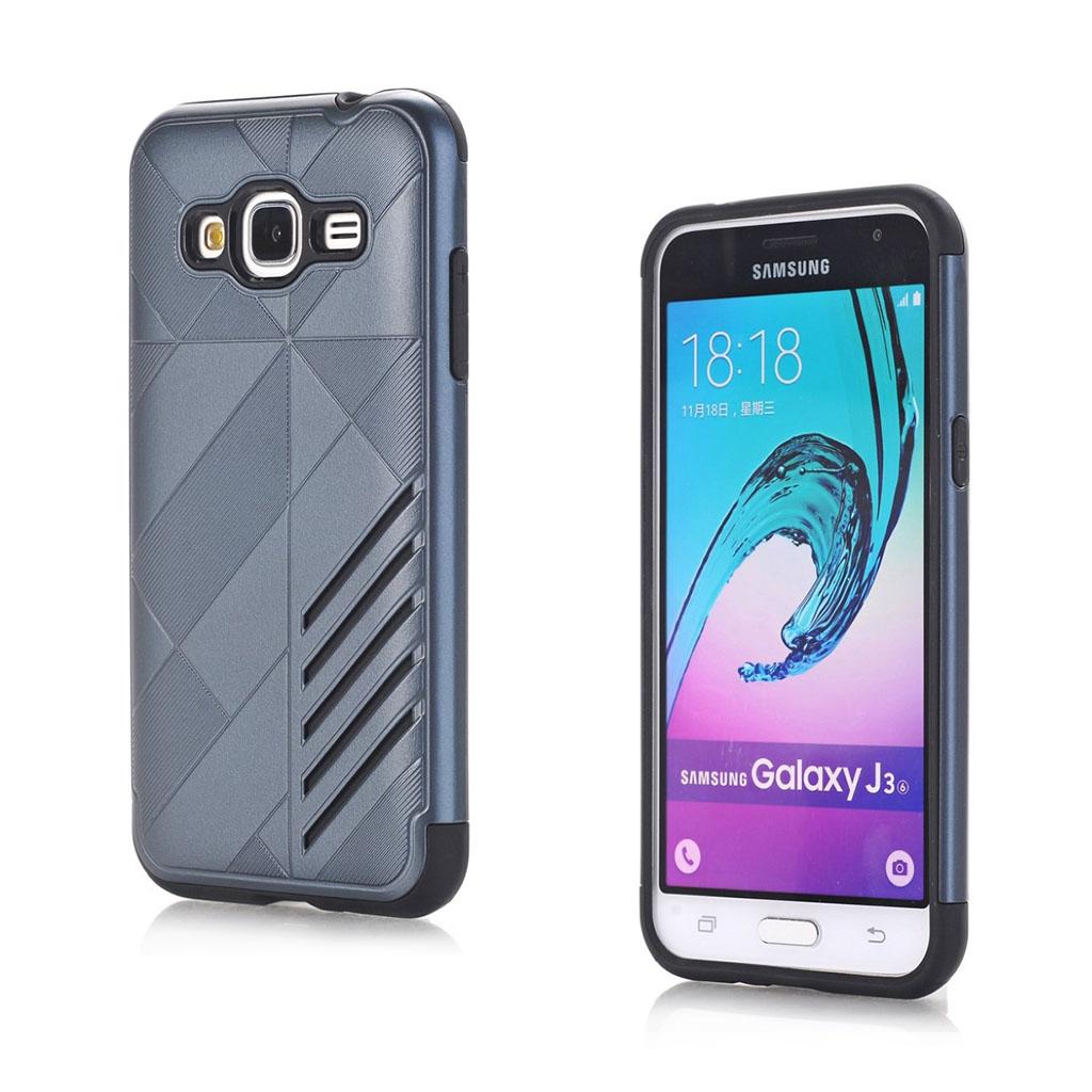 Image of   Absalon Samsung Galaxy J3 (2016) fleksibelt cover - Mørkeblå