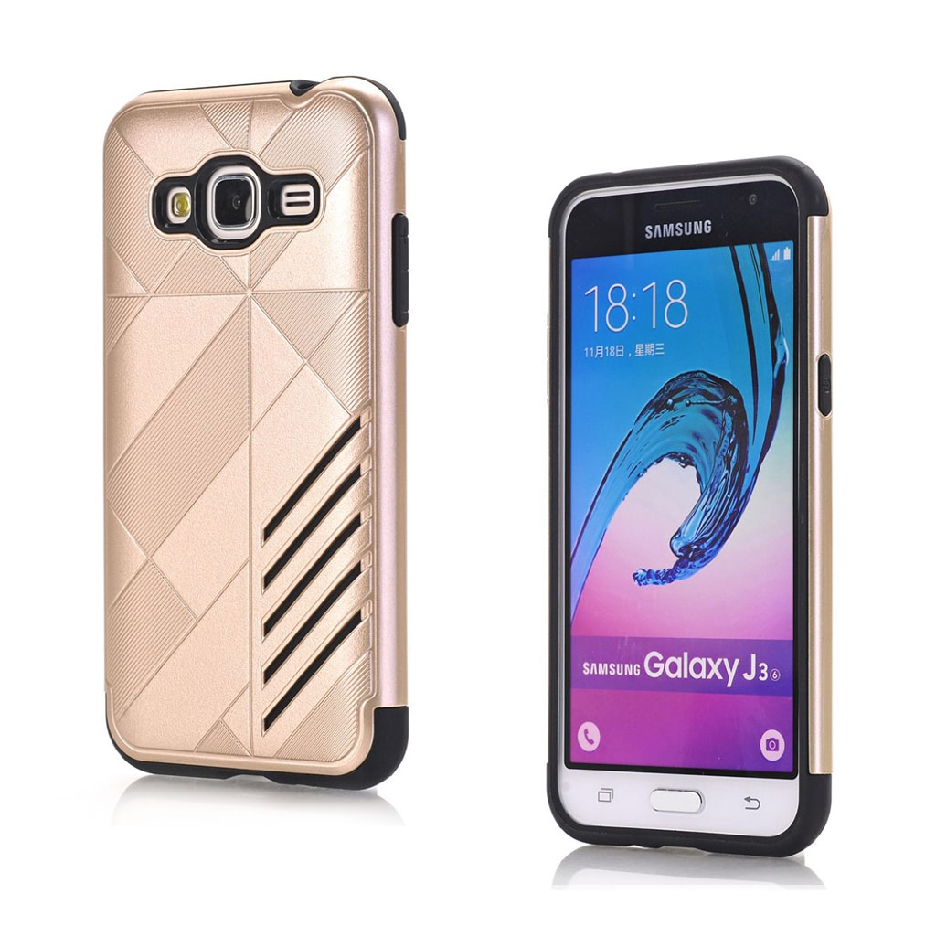 Image of   Absalon Samsung Galaxy J3 (2016) fleksibelt cover - Guld