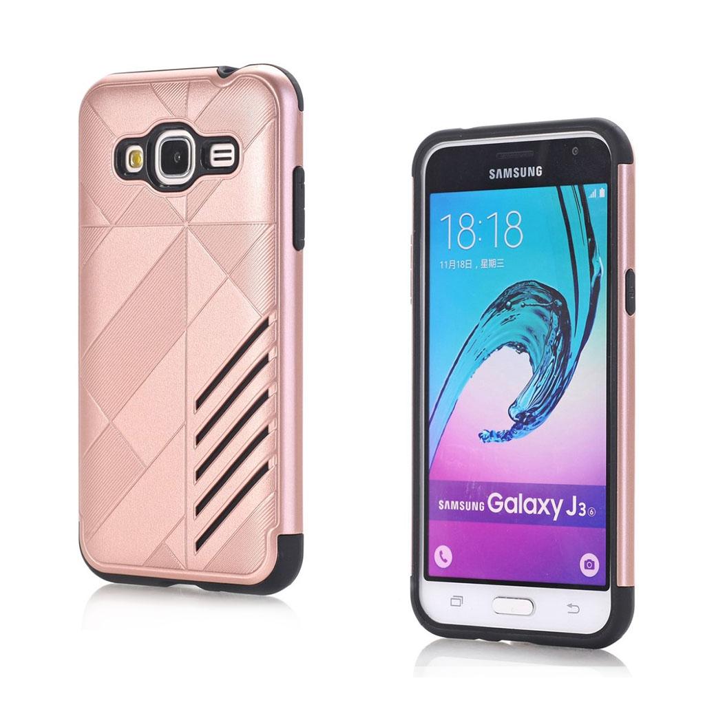 Image of   Absalon Samsung Galaxy J3 (2016) fleksibelt cover - Rødguld