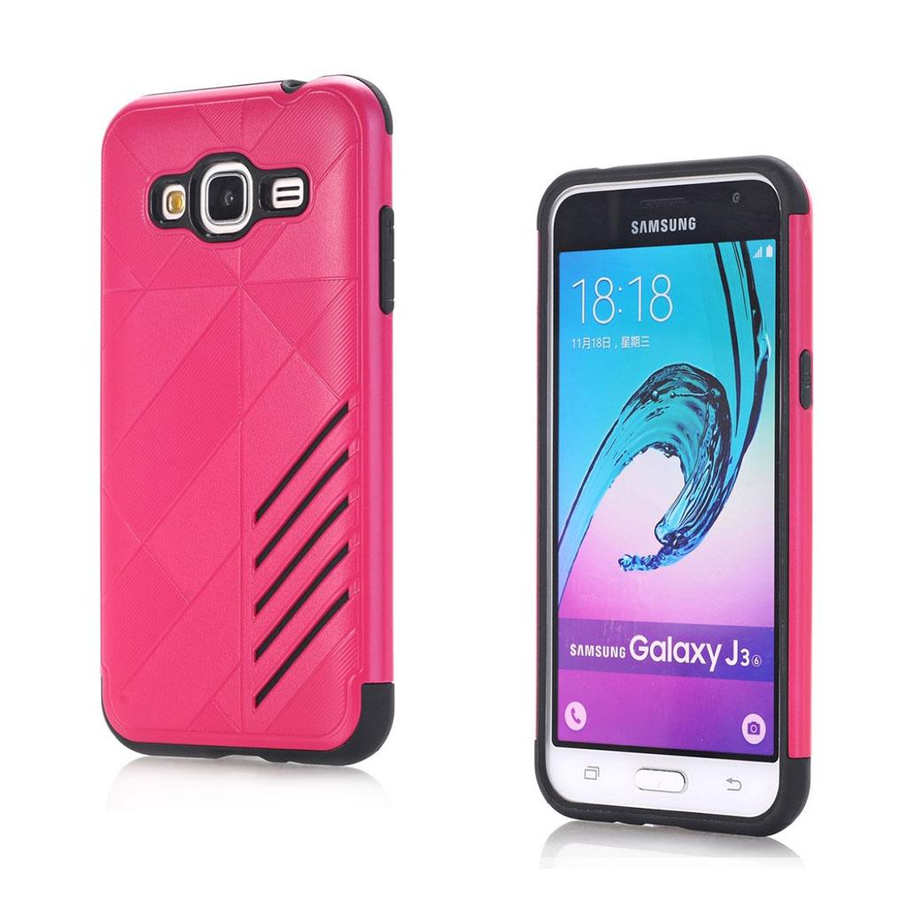 Image of   Absalon Samsung Galaxy J3 (2016) fleksibelt cover - Hot Pink
