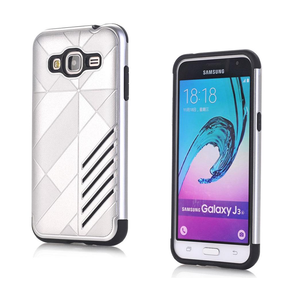 Image of   Absalon Samsung Galaxy J3 (2016) fleksibelt cover - Sølv