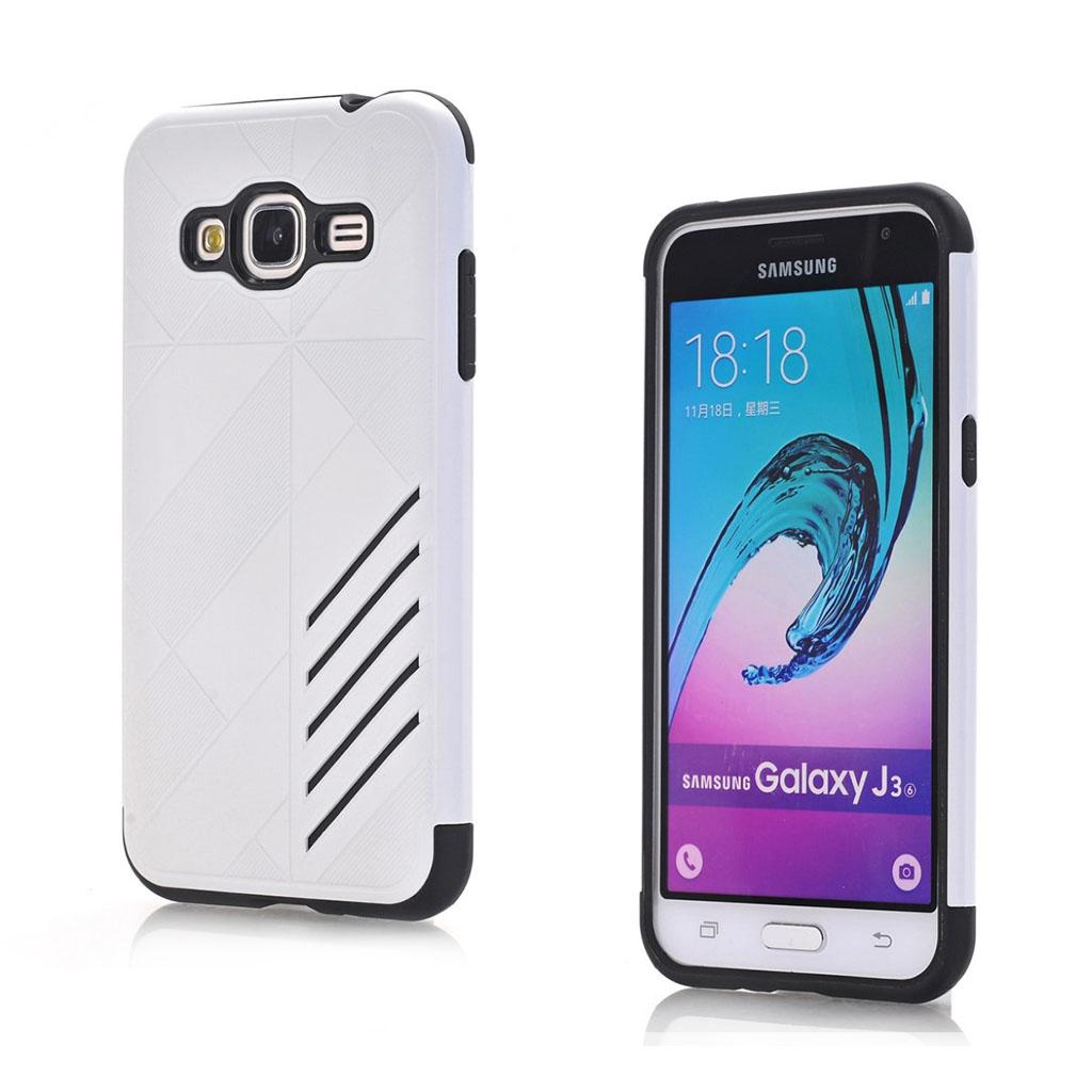 Image of   Absalon Samsung Galaxy J3 (2016) fleksibelt cover - Hvid