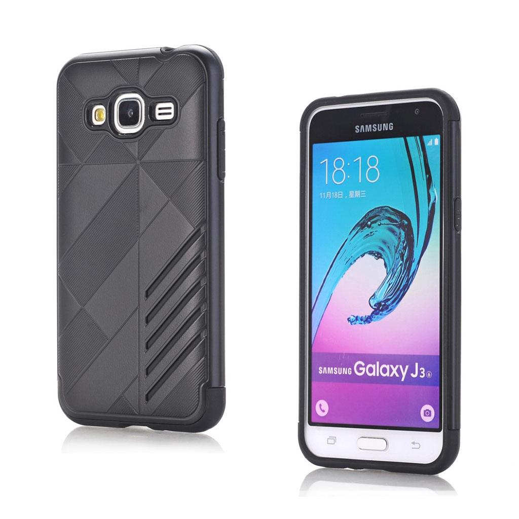 Image of   Absalon Samsung Galaxy J3 (2016) fleksibelt cover - Sort
