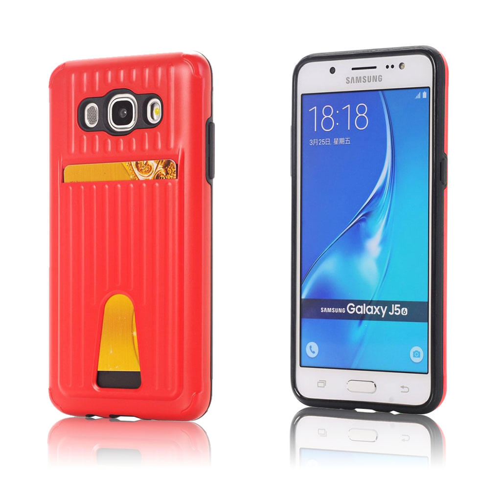 Samsung Galaxy J5 (2016) holdbart hybridcover - Rød