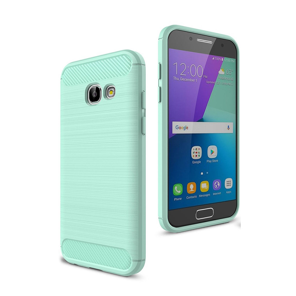 Image of   2Samsung Galaxy A3 (2017) beskyttende siliconecover - Turkis