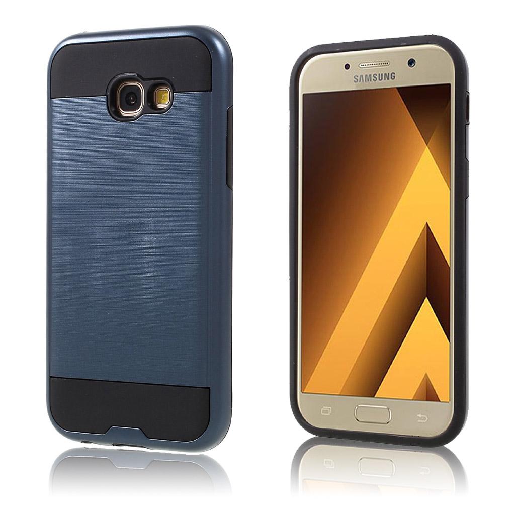 Samsung Galaxy A5 (2017) Cover med børsted overflade - Mørkeblå
