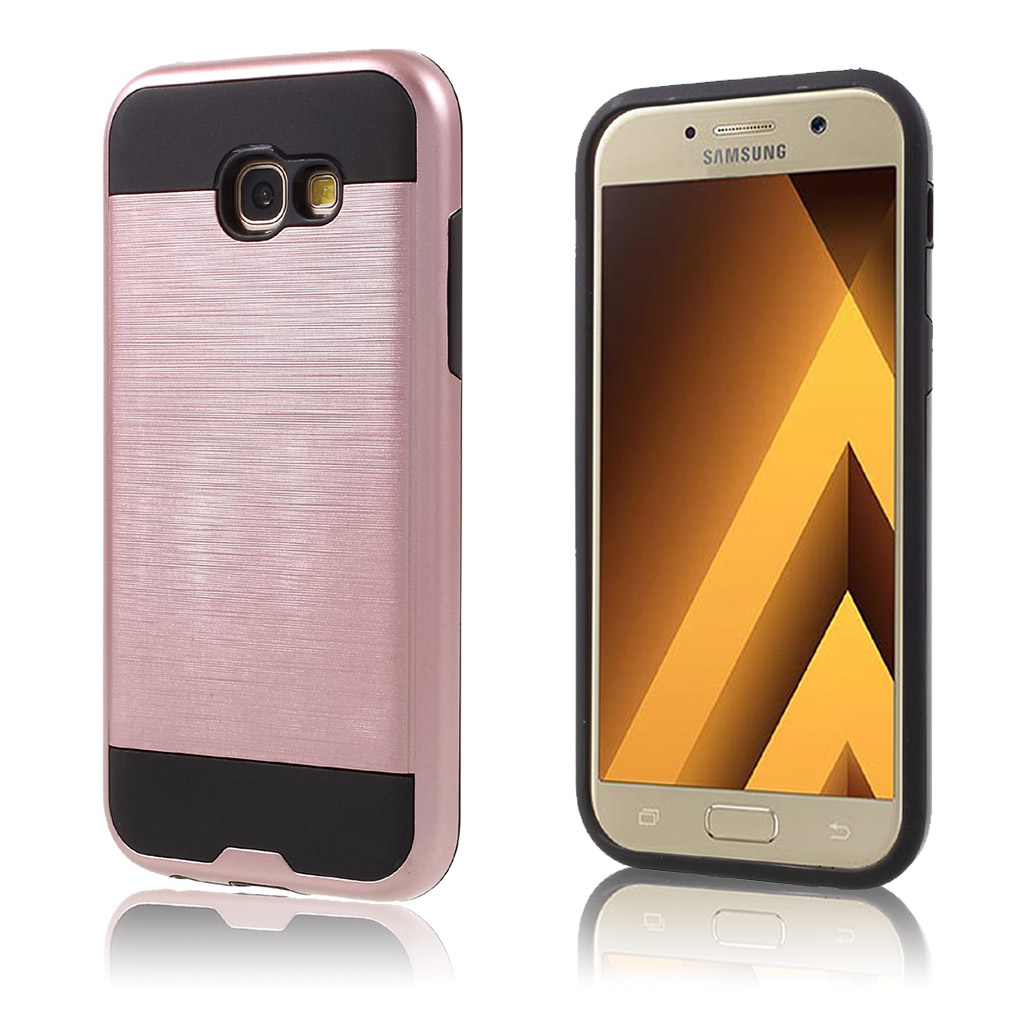 Samsung Galaxy A5 (2017) Cover med børsted overflade - Rosa guld