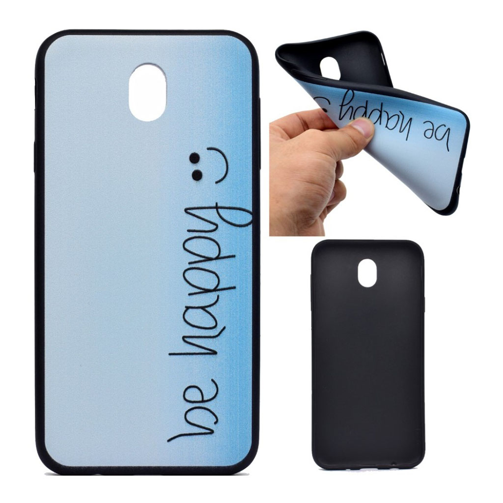 Image of   Samsung Galaxy J3 (2017) Blødt silikone cover - Be happy
