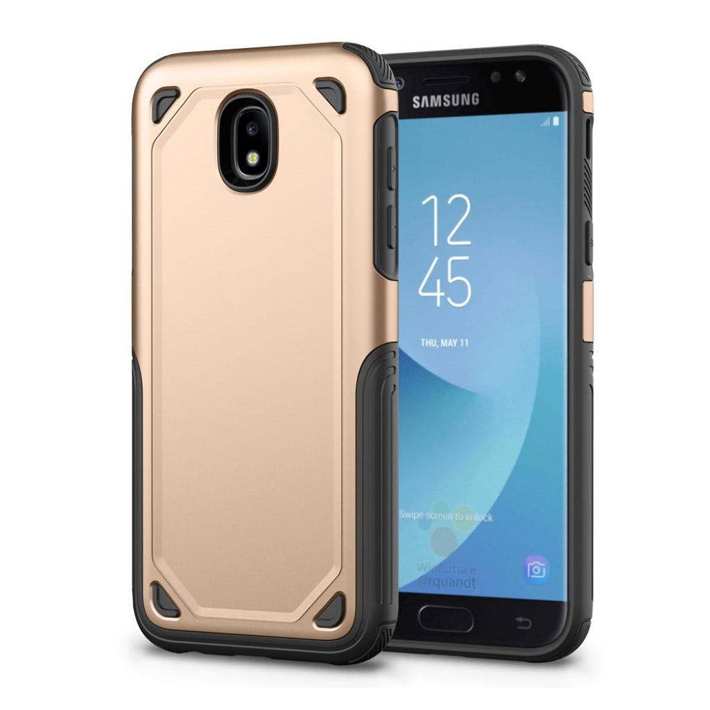 Samsung Galaxy J3 (2017) rugged armor TPU etui - Guld