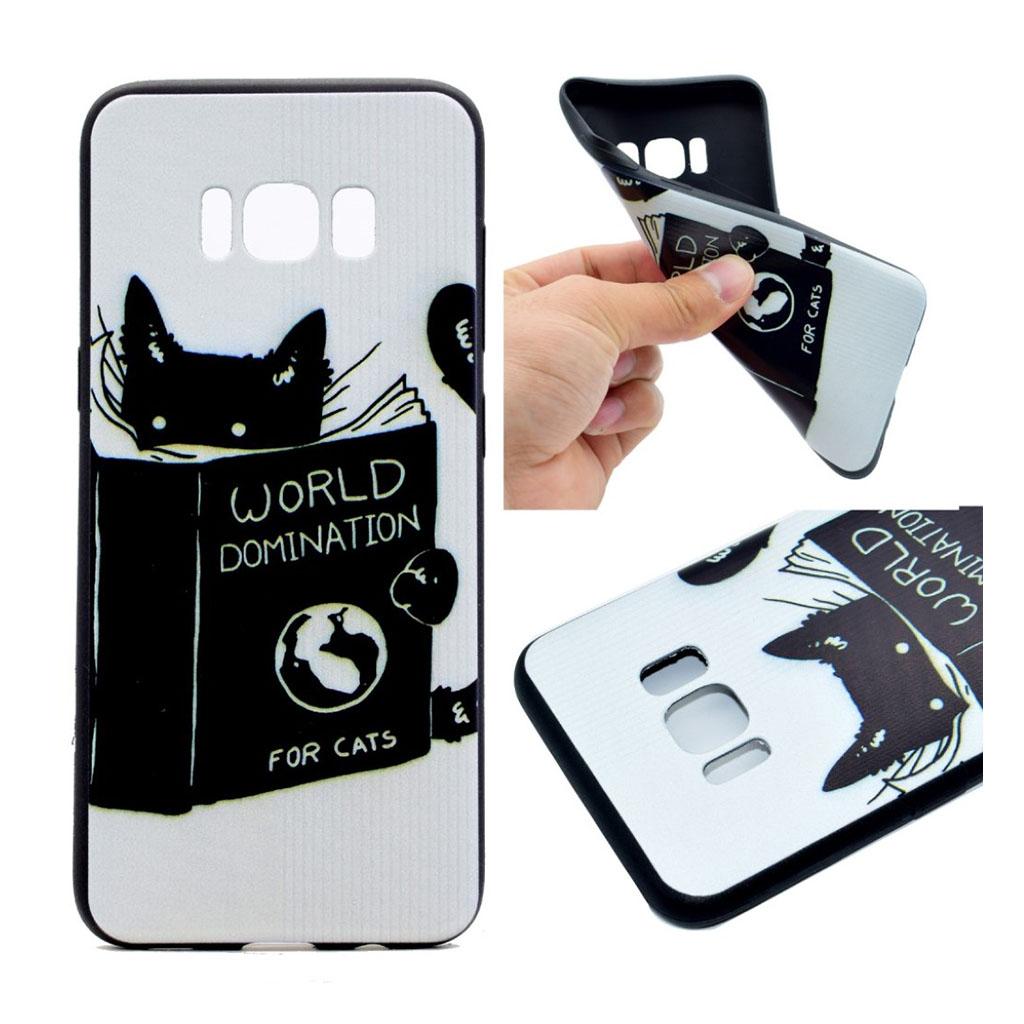 Samsung Galaxy S8 Beskyttende silikonecover - Kat med bog