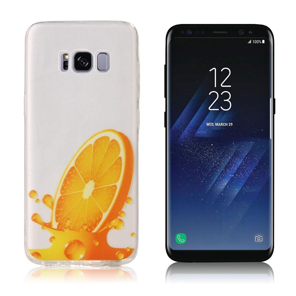 Samsung Galaxy S8 holdbart silikonecover - Appelsin