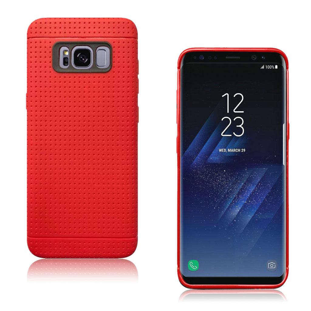 Samsung Galaxy S8 smart og holdbart silikonecover - Rød